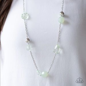Opaque Green Necklace Earring Set NWT